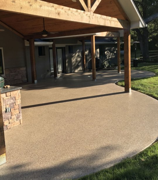 Patio Epoxy Concrete covering