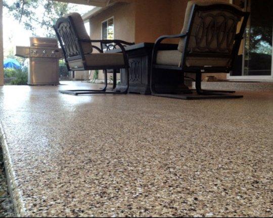 Outdoor Epoxy Flooring on Patio